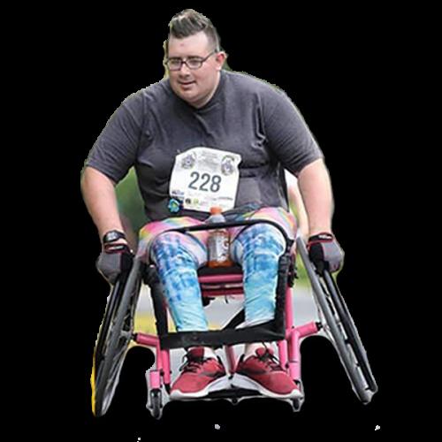 amber morgan running wheelchair trans athlete